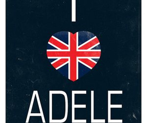 Adele, music, and heart image