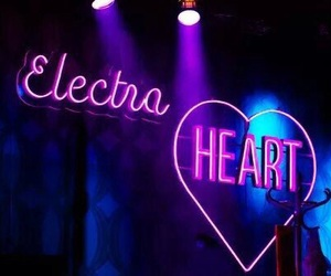 neon, electra heart, and light image