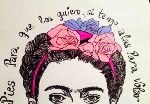 Pies Para Que Los Quiero Si Tengo Alas Para Volar Frida