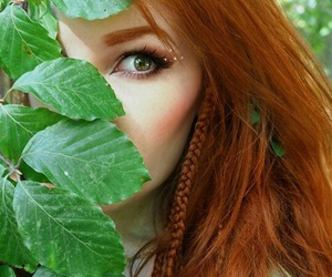 red hair and nature image