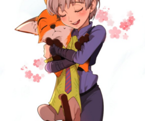 zootopia, judy hopps, and nick wildes image