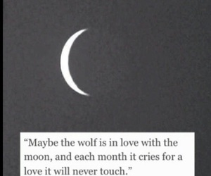 love, quotes, and moon image
