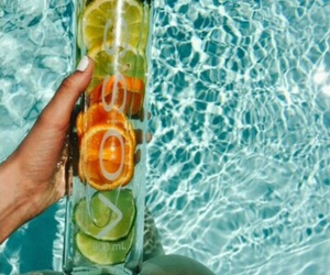 fruit, water, and summer image