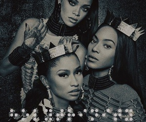 rihanna, Naomi Campbell, and Iman image
