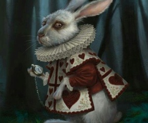 alice in wonderland and rabbit image