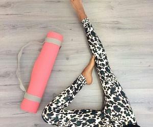 yoga, workout, and fitspo image