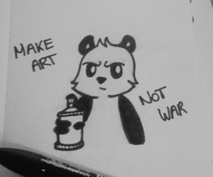 black and white, panda, and tag image