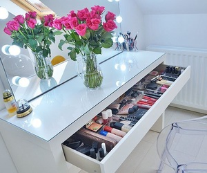 makeup, bedroom, and home image