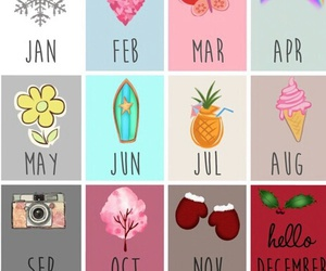 month, summer, and winter image