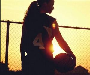 Basketball, girl, and ball image