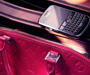 blackberry, pink, and Louis Vuitton image