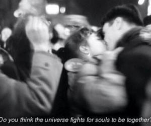 souls, universe, and soulmates image
