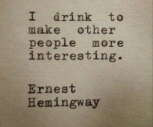 drink, people, and ernest hemingway image