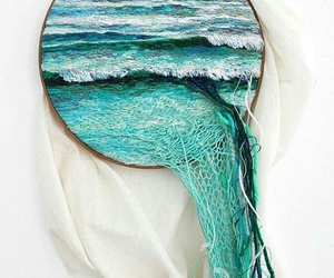 sea, blue, and art image