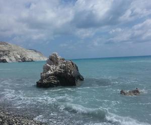 cyprus, rock, and sea image
