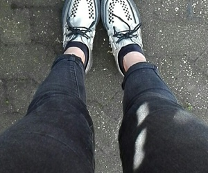creepers, metallic, and shoes image