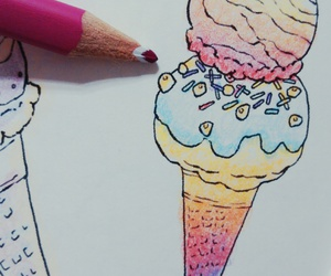 coloring, colors, and icecream image