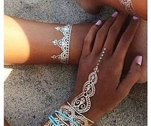 henna, summer, and white image
