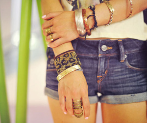 fashion, bracelets, and girl image