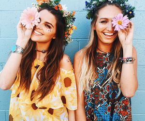 flowers, girls, and summer image