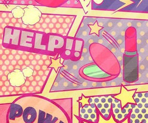 wallpaper, pink, and pow image