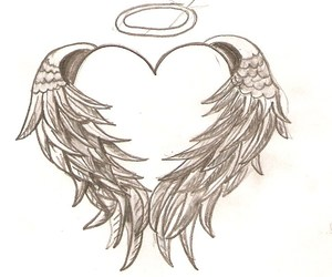 tattoo, heart, and wings image