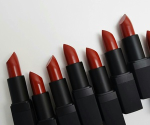 red, lipstick, and beauty image