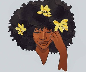 Afro and art image