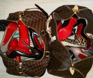 shoes, bag, and Louis Vuitton image