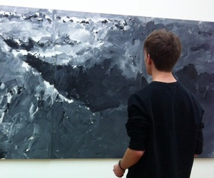 art, boy, and pale image