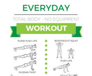 workout and fitspo image