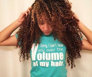curly, long hair, and natural hair image