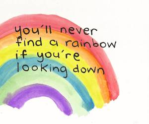 rainbow, quote, and life image
