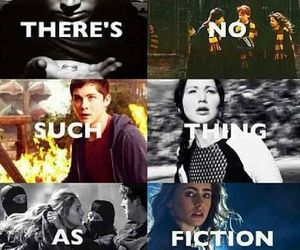 harry potter, percy jackson, and books image