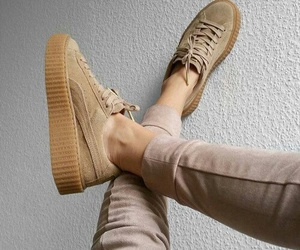 beige, rihanna, and chaussures image