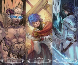 fairy tail, gray fullbuster, and elfman strauss image