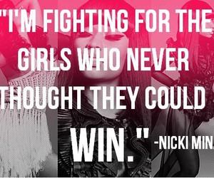 nicki minaj, quote, and win image
