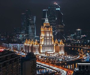 beautiful, gold, and moscow city image