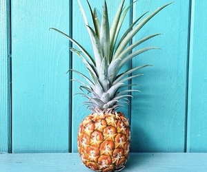 pineapple, summer, and blue image