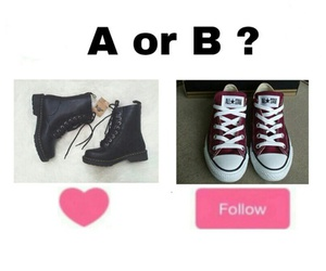 shoes, follow, and black image