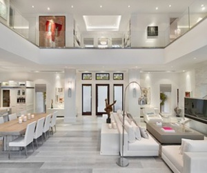 house, white theme, and inside image