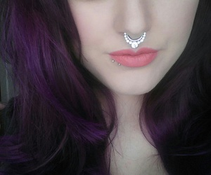 beauty, septum, and eyebrows image