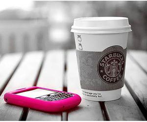 starbucks, pink, and blackberry image
