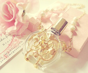perfume, pink, and rose image
