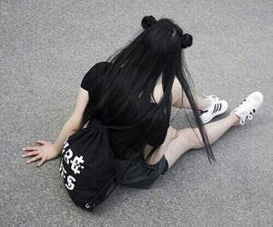 black, grunge, and adidas image