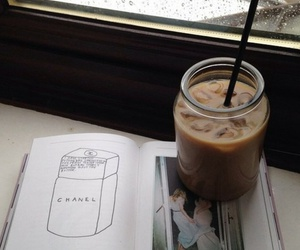 iced coffee and magazines image