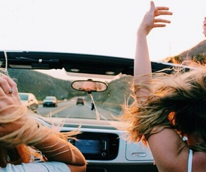 girl, friends, and car image