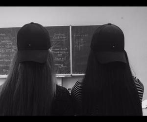 cap, school, and bestfriend image