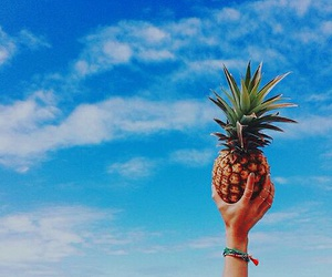 summer, pineapple, and sky image