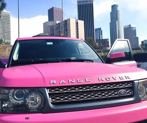 pink, range rover, and luxury image